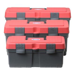 Hünersdorff Werkzeugkoffer ALPHA MAXI aus PP grau/rot, 260x560x230 mm
