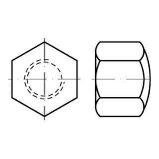 DIN 917 Sechskant-Hutmutter niedrige Form