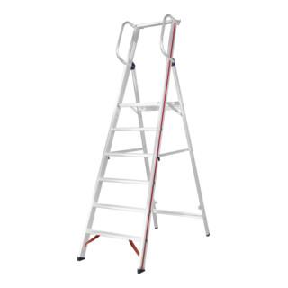 Hymer Plattformleiter mit Handlauf, 6 Stufen