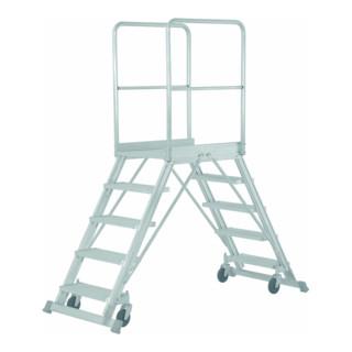 Hymer Podesttreppe fahrbar, beidseitig begehbar, 2x6 Stufen
