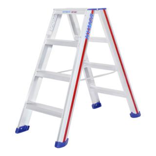 Hymer Stufenstehleiter beidseitig begehbar, 2x4 Stufen