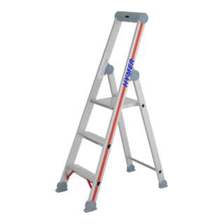 Hymer Stufenstehleiter mit Plattform einseitig begehbar 4026