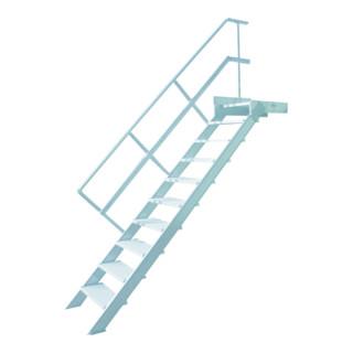 Hymer Treppe stationär Stufenbreite 800 mm mit Podest Treppenneigung 45°