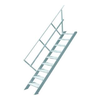 Hymer Treppe stationär Stufenbreite 1000 mm ohne Podest Treppenneigung 45°