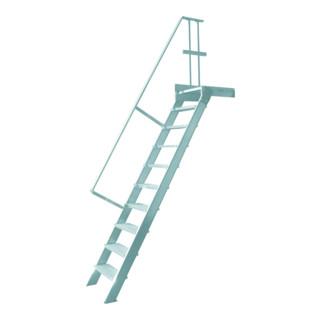 Hymer Treppe stationär Stufenbreite 600 mm mit Podest Treppenneigung 60°