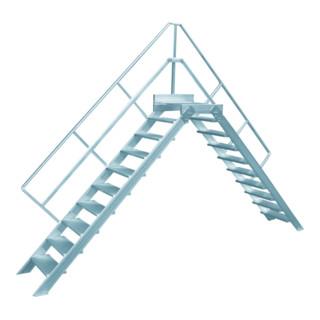 Hymer Überstieg stationär Stufenbreite 800 mm Treppenneigung 45°