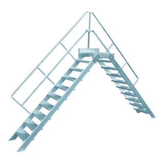 Hymer Überstieg stationär Stufenbreite 1000 mm Treppenneigung 45°