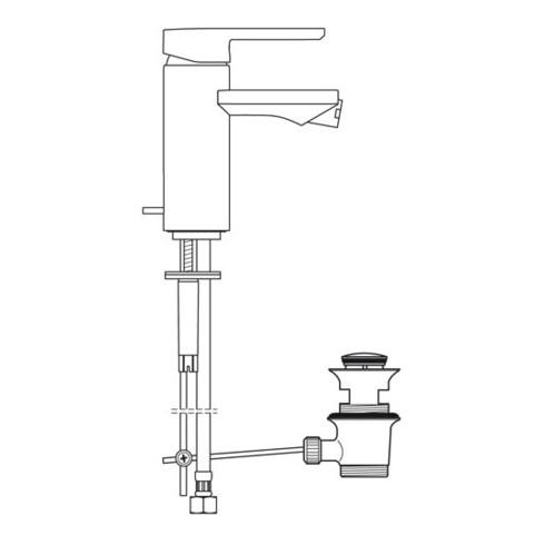 """Ideal Standard Einhebel-Bidetbatterie NEON mit Ablaufgarnitur 1 1/4"""" chrom"""