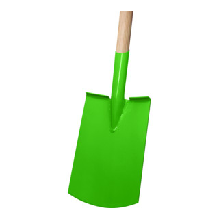 Idealspaten Damenspaten Rohrdüll Gärtner Form grün mit Tritt