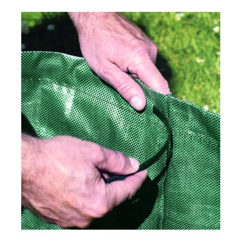 Idealspaten Gartensack mit Verstärkungsring hochreißfester Kunststoff grün 120 L