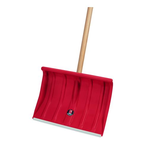 Idealspaten Schneeräumer 375 x 500 mm Kunststoff mit Holzstiel Alurkante