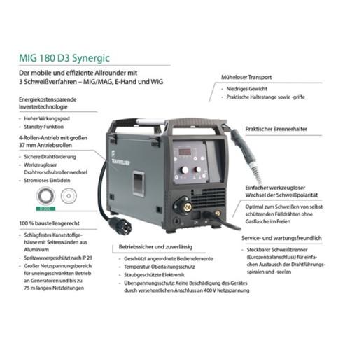 Installation de soudage MIG / MAG MIG 180 D3 Synergic Set avec accessoires 5 - 1