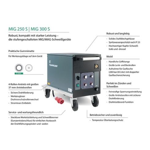 Installation de soudage MIG / MAG MIG 250 S Set avec accessoires 30 - 250 A refr