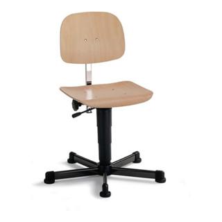 interstuhl Arbeitsdrehstuhl Fit m.Gleitern Buche Sitz-H.430-600mm BIMOS