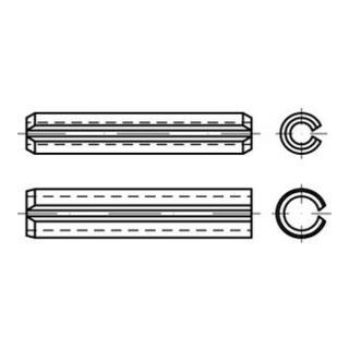 ISO 13337 Spannstifte  Federstahl 5 x 5 S