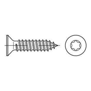 ISO 14586 Form CE Senkkopf-Blechschraube VG 2,9x9,5 Edelstahl A2 blank m. Spitze T10