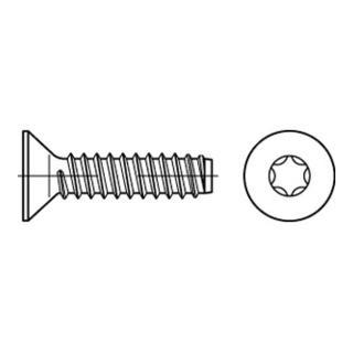 ISO 14586 Form FE Senkkopf-Blechschraube VG 4,8x90 Stahl galvanisch verzinkt m. Zapfen T25