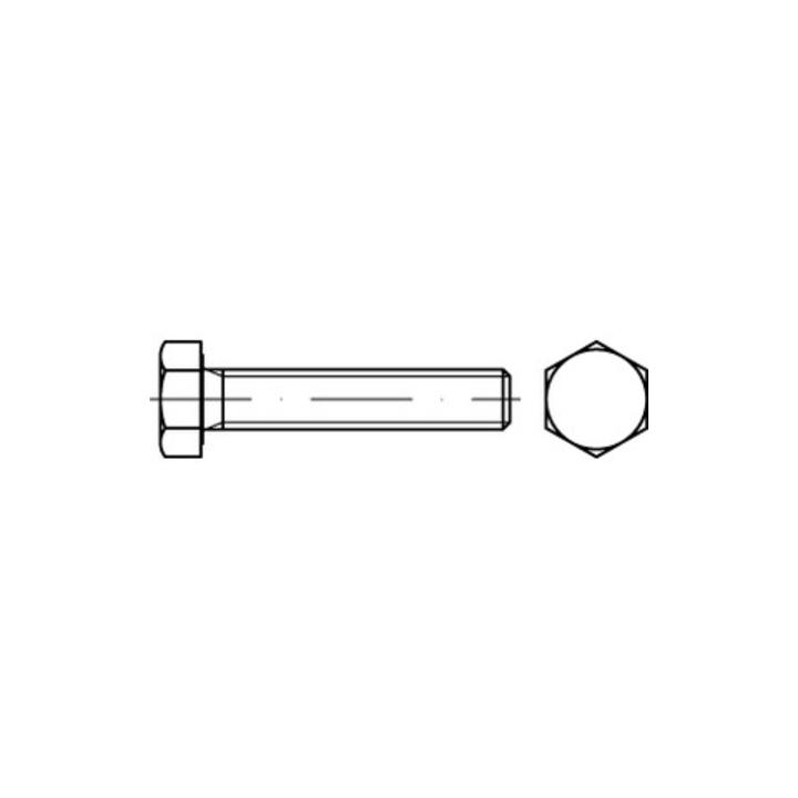 5 Stk Sechskantschraube DIN 933 10.9 M10 x 45 verzinkt