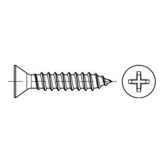 ISO 7050 Form C Senkkopf-Blechschraube VG 4,2x9,5 Stahl galvanisch verzinkt PH
