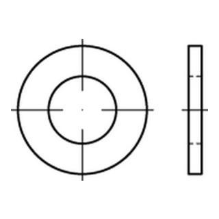 ISO 7089 Scheibe Stahl 12mm (13x24x2,5) feuerverzinkt ohne Fase Form A