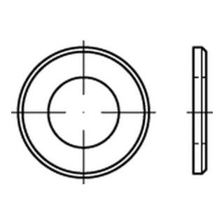 ISO 7090 Flache Scheibe Stahl 30mm (31x56x4 ) galvanisch verzinkt mit Fase Ohne Formfangabe