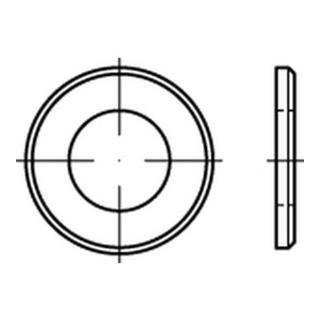 ISO 7090 Scheibe Stahl 5mm (5,3x10x1) galvanisch verzinkt schwarz chrom. m. Fase Ohne Formfangabe