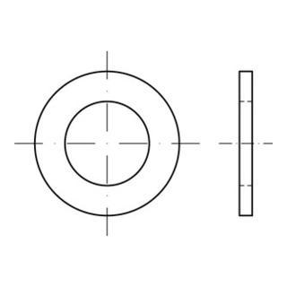 ISO 7092 Flache Scheibe Edelstahl A4 20mm (21x34x3 )