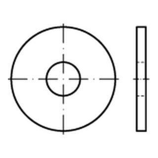 ISO 7094  Flache Scheiben, extra große Reihe Rundloch Stahl 8mm