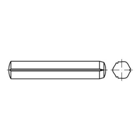 ISO 8740  Zylinderkerbstifte mit Fasen, Stahl, blank