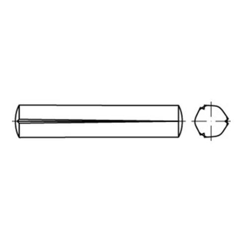ISO 8744 Kegelkerbstift, Edelstahl, blank