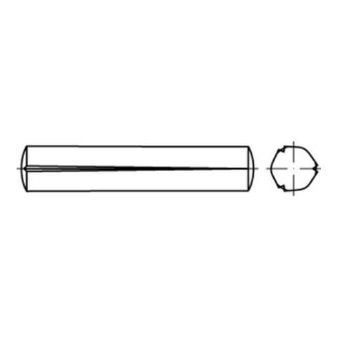 ISO 8744 Kegelkerbstift, Stahl, blank