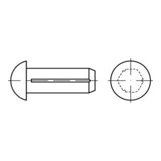 ISO 8746  Halbrundkerbnägel, mit Fase Stahl 2,5 x 8 K