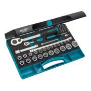 Jeu de clés à douilles HAZET Carré creux 12,5 mm (1/2 pouce) Nombre d'outils: 47