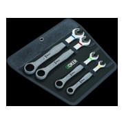 Jeu de clés à fourches / clés à œil à cliquet WERA JOKER 4