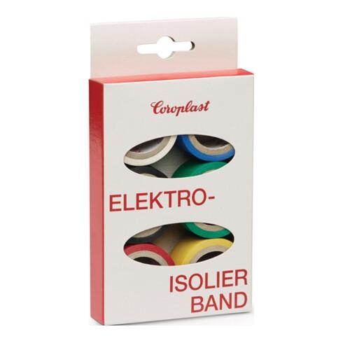 Jeu de rubans isolants électriques Coroplast 302 6 pièces L.3,3m W.19mm Ktr.