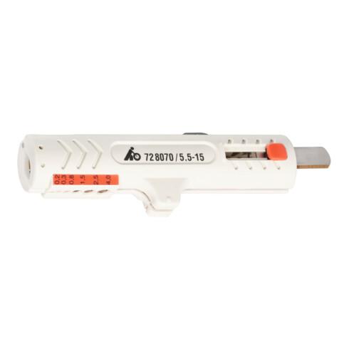 Jokari Kabelentmanteler, mit Abisoliermessern für Daten- und Steuerleitungen mit 5,5 - 15 mm Durchmesser