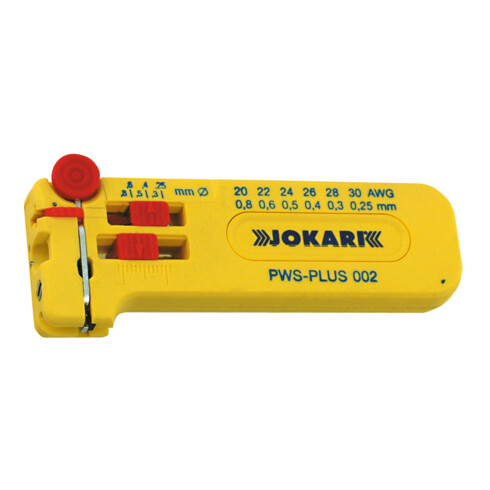 Jokari Mikro-Präzisions-Abisolierer PWS-PLUS 002 L.102mm D.0,25-0,80mm AWG 30-20