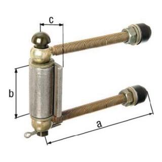 Justierbare Torgehänge mittelschwer M12 L.140mm Pfosten b. 80mm D./4-KT. GAH