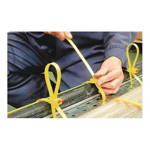 Kabelbinder SpeedyTie B.12xL.750mm gelb HELLERMANN TYTON Bündel-D.210mm 5 Stück