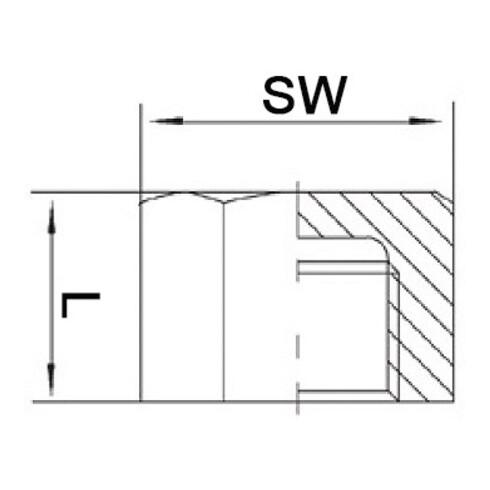 Kappe EN 10226-1 NPS=3/8 Zoll 6-kant L 20mm SPRINGER