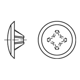 Kappen 2 x 12/3,5-5 für Kreuzschlitz H, weiß Kunstst S