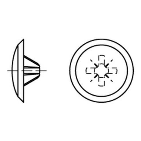 Kappen 2 x 12/3,5-5 für Kreuzschlitz Z, h. braun Kunststoff S