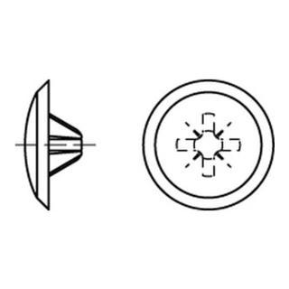 Kappen 3 x 13/5,5-6 für Kreuzschlitz Z, weiß Kunststoff S