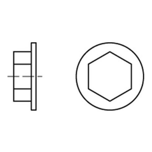 Kappen f. Fassadenschrauben SW 3/8 h. grau, RAL 9002 Kunststoff S