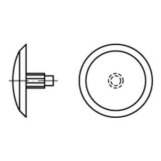 Kappen f. SPAX m. Kopfbohrung grau Kunstst S