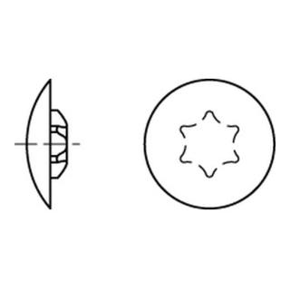 Kappen f. Torx 15 x 12/3,5 dunkelbraun RAL 8014 S