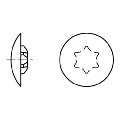 Kappen f. Torx 25 x 13,5/5 h. braun RAL 8001 S