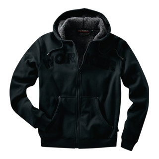 Kapuzenjacke Workpower Gr.L schwarz 100% CO