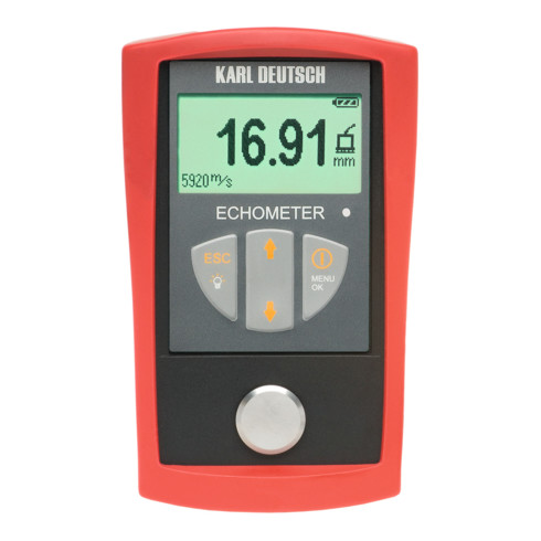 Karl DEUTSCH Wanddicken- und Schallgeschwindigkeits-Messgerät (ohne Prüfkopf), Typ: 1076B