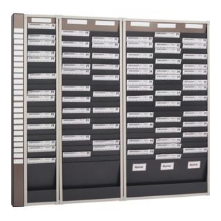 Karten-Sortiertafel H750xB490xT75mm 2 Reihen Mit 10 Fächern